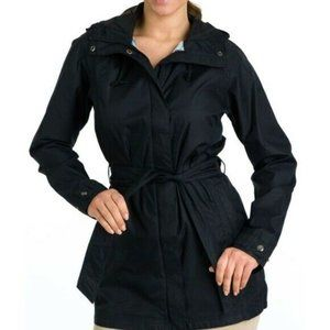 Columbia Pardon My Trench Rain Coat Black Small